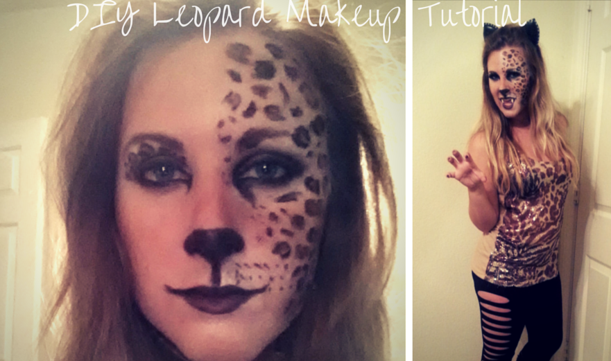 Diy leopard costume halloween make up tutorial solutioingenieria Images
